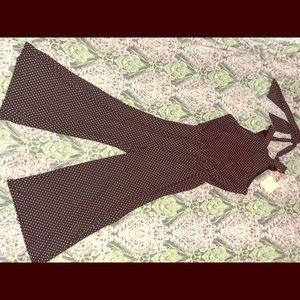 Rolla Coster   Black & White Polka Dot Jumpsuit